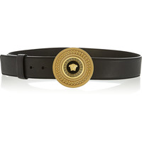 Versace - Medallion-clasp leather belt