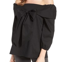 Wallis Bow Front Off the Shoulder Top | Nordstrom