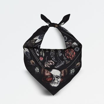 ALEXANDER MCQUEEN - Botanical skull and butterfly bandana | Selfridges.com