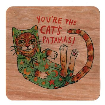 Cats Pajamas Wood Card