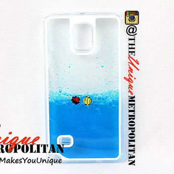 3D Aquarium Fish Tank Samsung Galaxy S4 / S5 / Note 3 / Note 4 Swimming Liquid Case Pink Green Blue Yellow Clear Cute New Plastic sam1