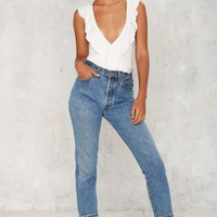 Frilled to Pieces Plunging Top