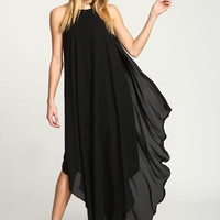 BLACK GOLDEN GODDESS MAXI DRESS