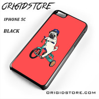 Pug Bicycle For Iphone 5C Case UY