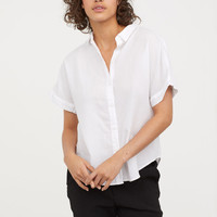 H&M Short-sleeved Cotton Shirt $14.99