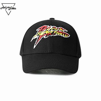 Men Baseball Cap Patch Design Hats Hip Hop Dance Hats Tide High Street Adjustable Black Casual Hat