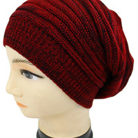 Slouched Beanie Red - One