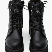 Rise Up Platform Boot - Black