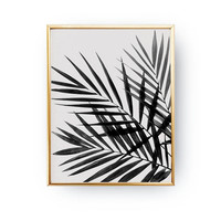 Three Palm Leaves Print, Tropical Wall Art, Boho Desert, Minimal Wall Art, Palm Wall Art, Botanical Print, Palm Leaves Design, Minimal Print