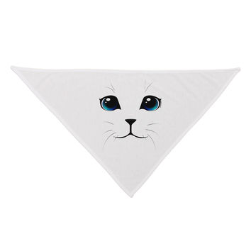 TooLoud Blue-Eyed Cute Cat Face Dog Bandana 26