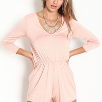 V NECK KNIT ROMPER