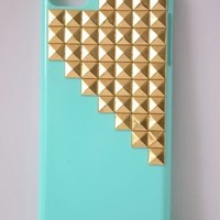 Shapotkina Punk Style Protective Case for Ipod Touch 5 Sky blue Cover with Gold Pyramid Studs+Westlinke LOGO Stylus
