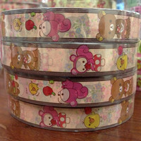 Rilakkuma bear deco tape stickers - Spring time squirrel & mushroom DT405