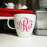 Monogrammed Coffee Mug/Cup - Personalized Mug - Personalized Bridesmaid Gift - Monogrammed Stocking Stuffer - Bridal Party Gift