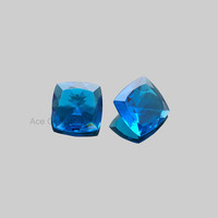 Swiss London Blue Topaz Cushion Cut Faceted Loose Gemstone Cushion 16mm, Special Piece for making jewelry - 2 Pcs.