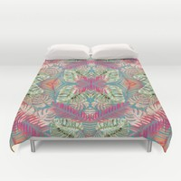 Summer Jungle Love Duvet Cover by ALLY COXON | Society6