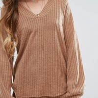 Honey Punch Chunky Ribbed Sweater Co-Ord at asos.com