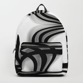 Nobel Squiggly Lines Backpacks by Deluxephotos