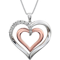 ".06 CTW Diamond Heart 18"" Necklace"