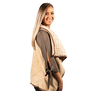 Sherpa Taupe - VEST - F19 - Simply Southern
