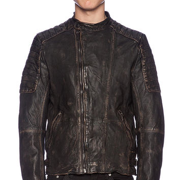 Scotch & Soda Biker Jacket in Black