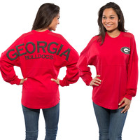 Women's Georgia Bulldogs Sport Mesh Spirit Jersey - Red