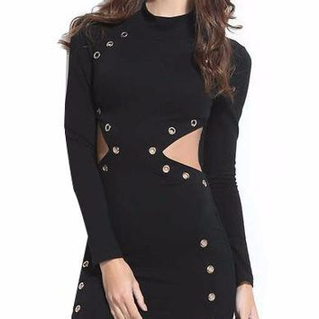 Cutout Body Con Mini Dress