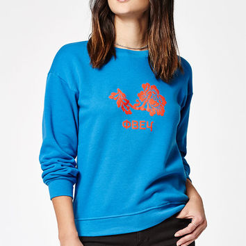 OBEY Delancey Flower Crew Neck Sweatshirt at PacSun.com