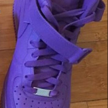 super popular 7fbff f1343 Custom Purple Nike Air Force 1