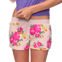 Floral Fleece PJ Short