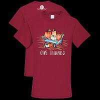 Southern Couture Preppy Give Thanks Fall T-Shirt