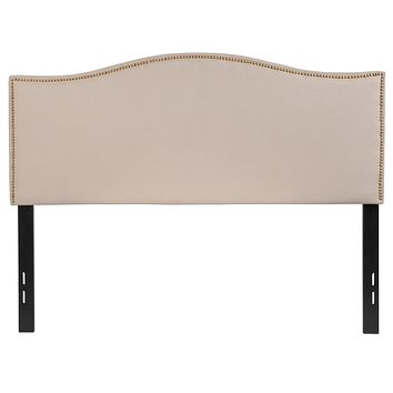 Lexington Upholstered Full Size Headboard with Decorative Nail Trim