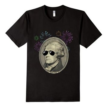 Cool Alexander Hamilton with Sunglasses T Shirt 4th July