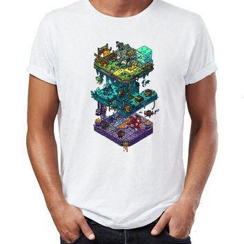 Men's T Shirt Dungeons and Dragons Awesome Artwork Drawing Printed Tee
