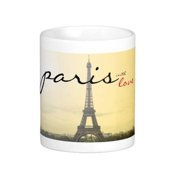Paris with Love Classic White Coffee Mug