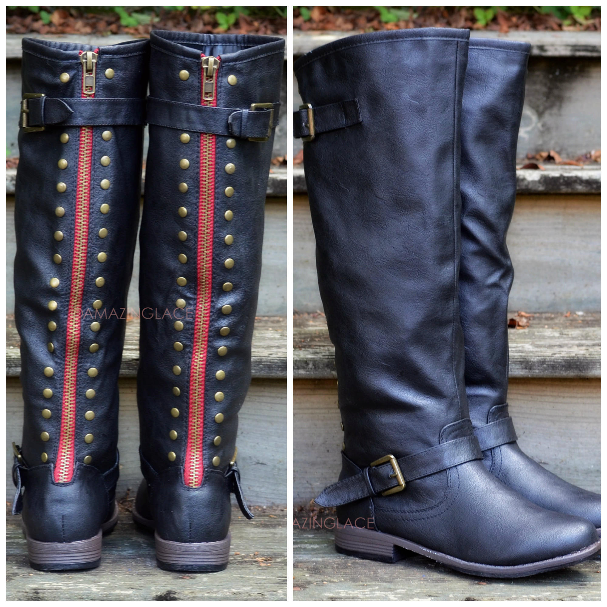 Black Boot With Red Zipper - Gommap Blog