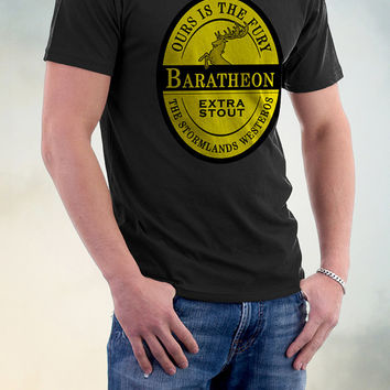 Ours Is The Fury Tshirt, Baratheon Beer Label Tee, Game Of Thrones Beer Label T Shirt