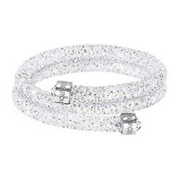 Swarovski | Crystaldust Bangle Double, White