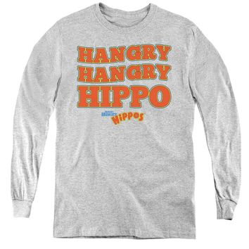 Hungry Hungry Hippos Kids Long Sleeve Shirt Hangry Athletic Heather