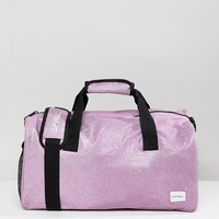 Spiral Lilac Glitter Duffle Gym Holdall at asos.com