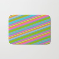 Summer Stripes Bath Mat by Texnotropio