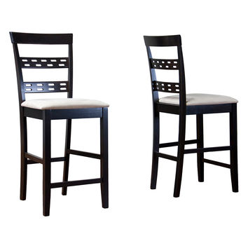 Design Studios Baxton Studio Seville Counter Stools (Set of 2) - Brown