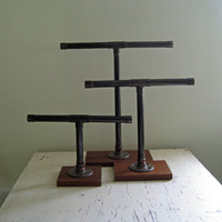 Industrial Jewelry Stand Rustic Bracelets Organizer