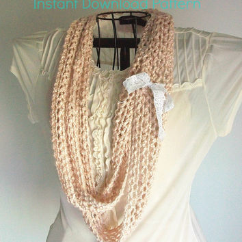 Boho Infinity Eternity Knit Scarf Pattern Easy Knitting