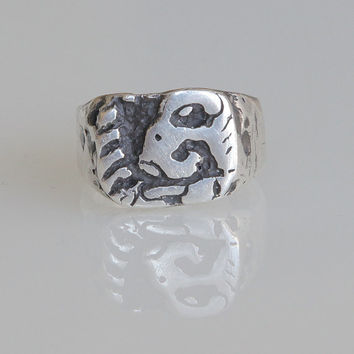 Cacau - Mayan ring - Sterling Silver .925 - pirate ring - explorer's ring