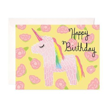 UNICORN BIRTHDAY GREETING CARD