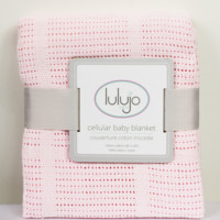 infant cellular baby blanket-pink