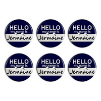 Jermaine Hello My Name Is Plastic Resin Button Set of 6