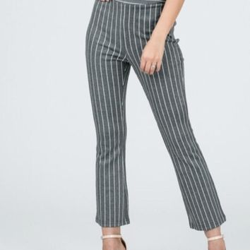Stripe Crop Pant
