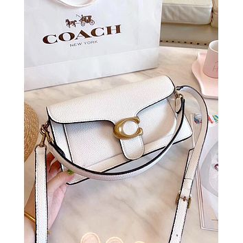 COACH new tide brand female handbag shoulder messenger bag white